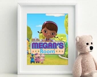 Doc Mcstuffins Printable, Doc Mcstuffins Wall Art, Doc Mcstuffins Nursery Decor, Doc Mcstuffins Printable, Doc Mcstuffins Wall Decor