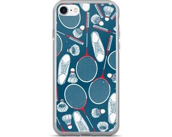 Badminton iPhone Case, Phone Case Badminton, Badminton Phone Case, Protective iPhone Case, iPhone 7 Case, iPhone 6 Case, iPhone 5, Sports