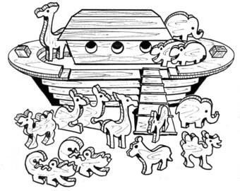 Noah's Ark Play Set #803 - Woodworking / Craft Pattern