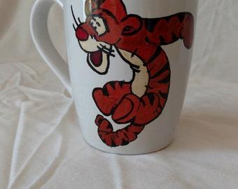 Tigger Hand Painted Mug