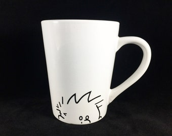 Calvin and Hobbes Coffee Cup - Sneaky Calvin