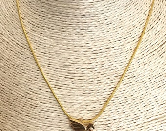 Gold pegasus origami style charm necklace