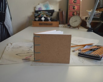 hand bound recycled sketchbook