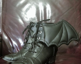 Vegan Faux Leather Lace Up Bat Wings for your Shoes or Boots