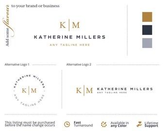 Mini Branding Kit. Branding Kit Design. Initials Logo. Branding Logo Kit. Business Logo Kit. Blog Branding Kit. Brand Kit. Watermark. Logo.