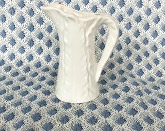 Small  vintage beige pitcher
