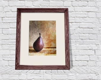 Printable Photography, Kitchen Picture, Still Life Photo, Pear Photo Print, New Home Gift, Printable Wall Art