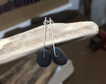 Handmade Tiny Pebble Earrings