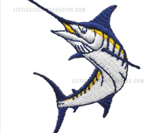 Marlin Fish Embroidery Design