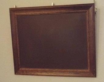 Classic vintage schoolhouse magnetic chalkboard