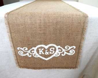 Personalized Burlap Table Runner, Burlap Wedding Runners, Farmhouse Runner, Plain Burlap Table, Rustic Table Runner, Custom Length Available