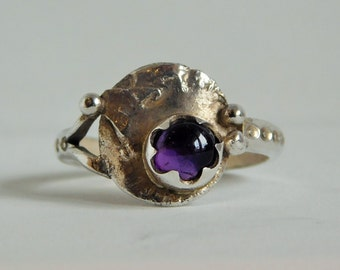 950 silver ring with amethyst
