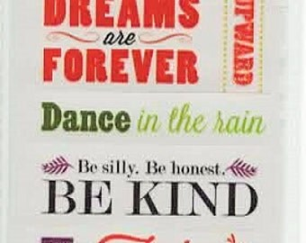 Love Life Quotes ATD Scrapbook Stickers Embellishments Cardmaking Crafts