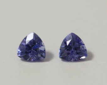 Genuine Tanzanite 3.5mm pair Loose Gemstone Trillion Faceted
