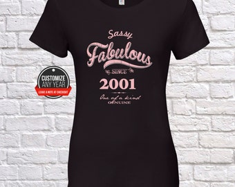 Sassy fabulous 17th birthday women, 17th birthday gifts for women,  Sassy fabulous since 2001 , 17th birthday tshirt , 17th women, 17th  ,