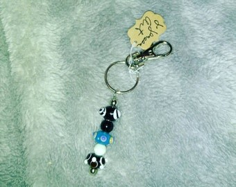 Bumpy Bead Keychain