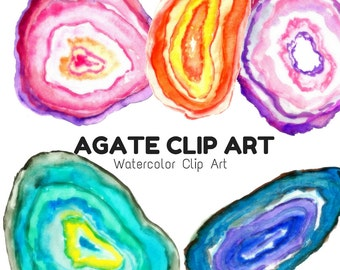 Watercolor Clip Art - Agate Clip Art - Agate Art - Scrapbook supplies - Rock  Clip Art - Commercial Use
