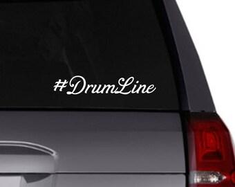 Drum Line hashtag vinyl decal/vinyl decal/drumline/band/car decal/tumbler/hash tag