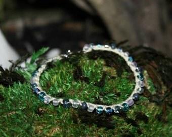 Delicately Knotted Blue Array Bracelet