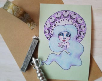 Art Nouveau Style Pastel Dream Girl Print   Planner Dashboard Divider Insert
