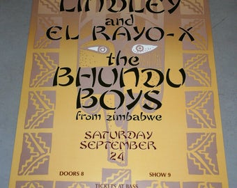 David Lindley and El Rayo-x, The Bhundu Boys from Zimbabwe September 24, 1988