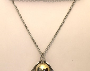 Golden Snitch Necklace Large Gold Ball