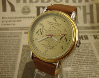 Mechanical watch, Raketa watch, vintage watch, russian watch, military watch, soviet watch, ussr watch, retro watch, gift for him