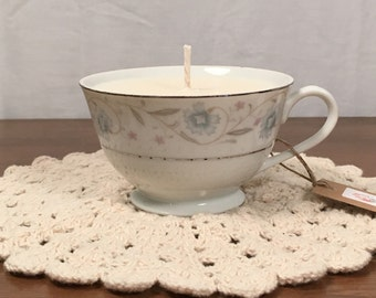 Vintage Tea Cup Candle, Lavender Scented