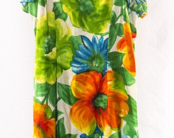 Vintage 1960s Alice Floral Ruffled Dress
