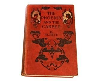 The Phoenix and the Carpet, Edith Nesbit, Children literature, Antique 1907 Book, Novel fiction book, Illustrated book, English literature