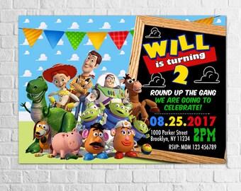 Toy Story Birthday Invitation, Toy Story Invitation, Printable Toy Story Invitation, PDF or JPG, Personalized Toy Story Invites, Toy Story 2
