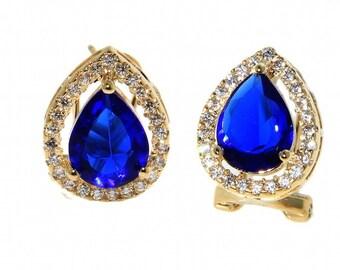 Pear zirconia earrings ,gold fielld 14 k jewelry with great care.zircon aaa Amazing earrings for every occasion pear shape earrings