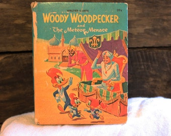 Vintage Woody Woodpecker Big Little Book, Vintage Big Little Book, Vintage Childrens Book