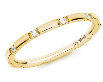 10 Stone Diamond Stacking Eternity Ring in 18ct Yellow Gold