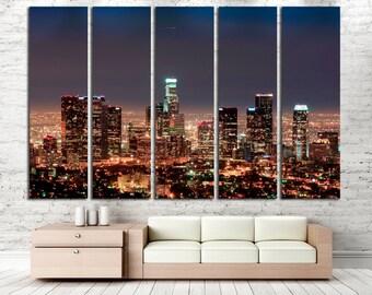 Los Angeles Wall Art Los Angeles Canvas Print Los Angeles Cityscape Los Angeles Skyline Los Angeles Skyscraper Los Angeles California