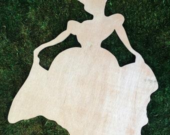 Cinderella Wooden Silhouette