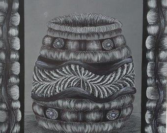 Native American Basket Drawing