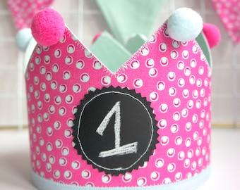 Fabric Crown | Birthday Crown | Princess Crown | First Birthday Crown | Crown | Birthday Hat | Toddler Crown | Girls Crown | Party Crown