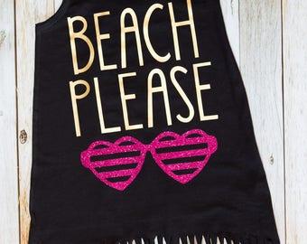 Beach Please - Fringe Swim Cover Up - Girls Beach Dress - Cover up - Beach Cover Up - Summer Dress - Beach Outfit - Beach Shirt