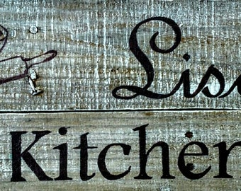 Personalized Kitchen Sign - 2