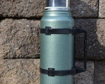 Vintage Aladdin Stanley Thermos   Vintage Metal Thermos With Handle   Old Unbreakable Steel Thermos  Vintage Coffee Thermos   Rugged Bottle