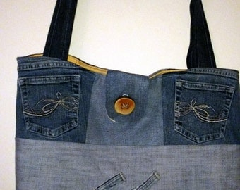 Multi-user recycled denim bag