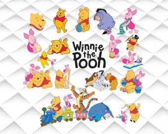 Winnie the Pooh svg,jpg,eps,psd,ai for Design/Print/ Silhouette Cameo/Cricut and Many More