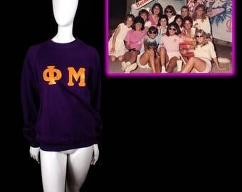 Rare 1980's Phi Mu Sweatshirt