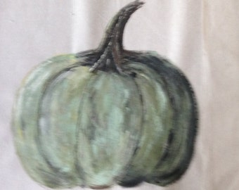 Painted Pumpkin pillow case