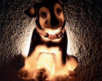 Vintage Dog Night Light.