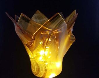 Sunshine!  Fused Glass Vase