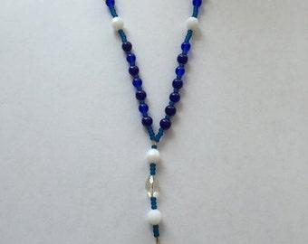 Prayer beads shades of blue