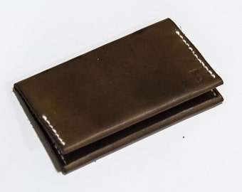 Jackdaw Leather Card Wallet (Chestnut Brown)