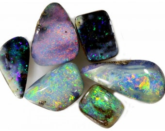 Beautiful Parcel of Galaxy Inspired All Natural Solid Boulder Opals